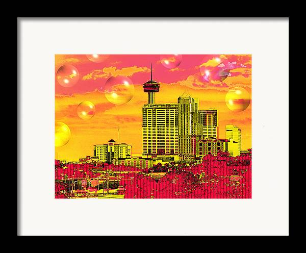 San Antonio Framed Print featuring the digital art Inner City - Day Dreams by Wendy J St Christopher