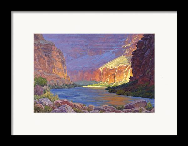Grand Canyon Framed Print featuring the painting Inner Glow Of The Canyon by Cody DeLong