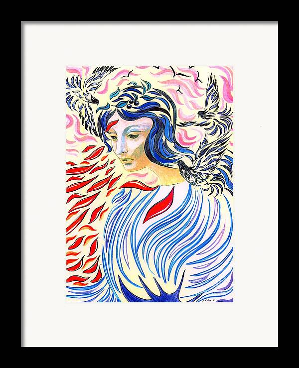 Mystical Framed Print featuring the painting Inner Peace by Jane Small