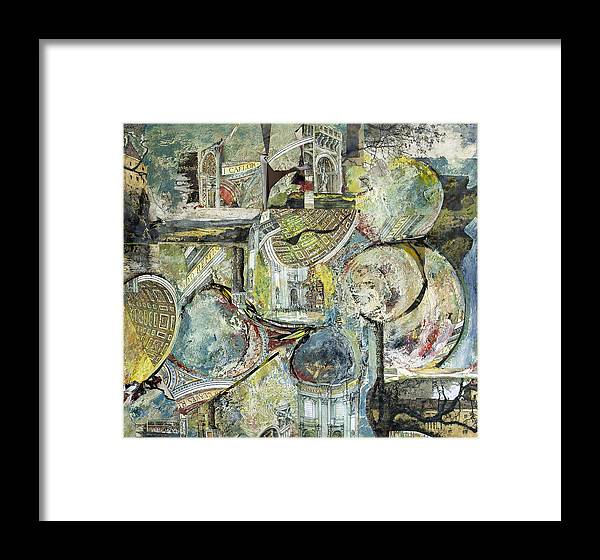 Oil Framed Print featuring the painting Inner Visions Inner Rooms 4 Floating by Alice Harrison