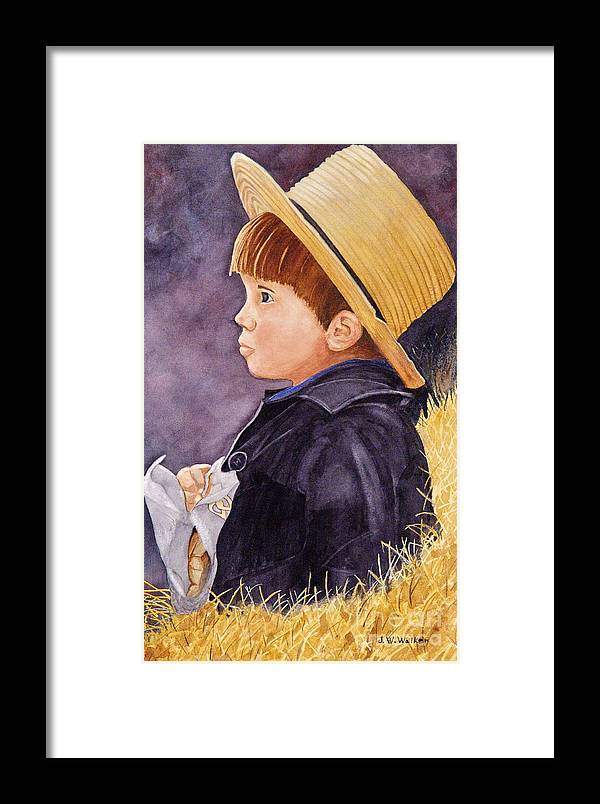 Innocence Framed Print featuring the painting Innocence by John W Walker