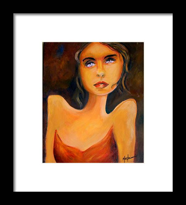 Woman Framed Print featuring the painting Innocent by Hope Mastroianni
