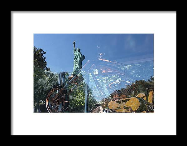 Bike Framed Print featuring the photograph Innovation As Reflection Of Human Liberty by Toshini Sharma