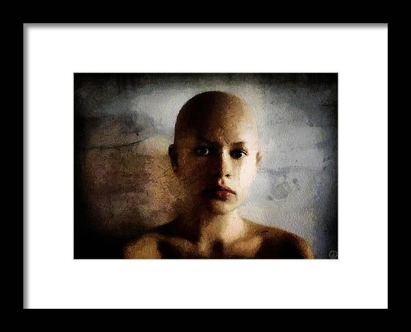 Woman Framed Print featuring the digital art Inside Out by Gun Legler