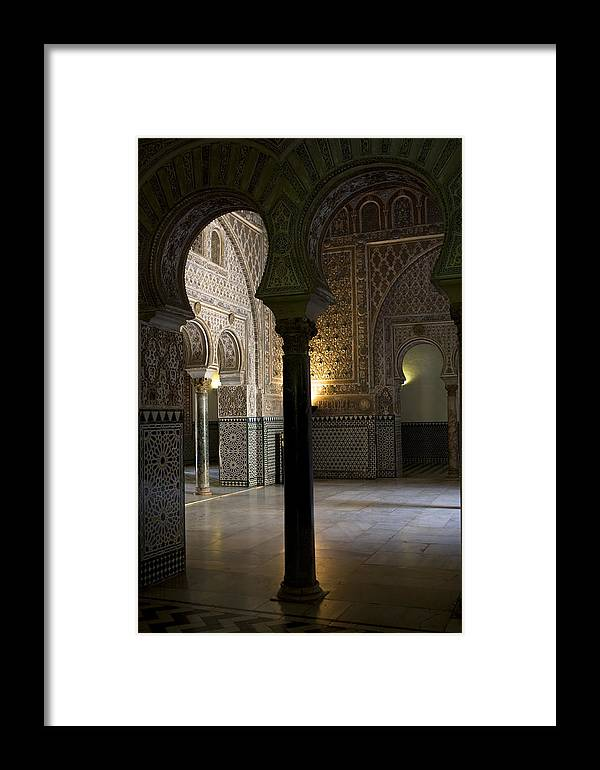 Seville Framed Print featuring the photograph Inside The Alcazar Of Seville by Lorraine Devon Wilke