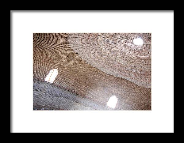 Architecture Framed Print featuring the photograph Inside The Caravanserai by Kendell Timmers