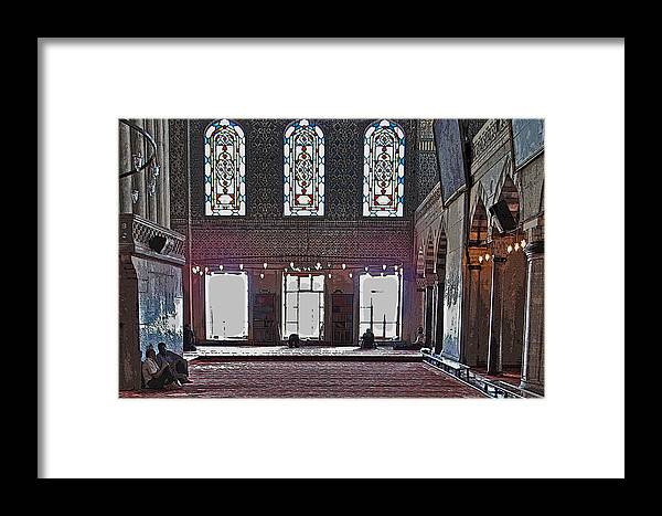 Istanbul Framed Print featuring the photograph Inside The Mosque by Ian MacDonald