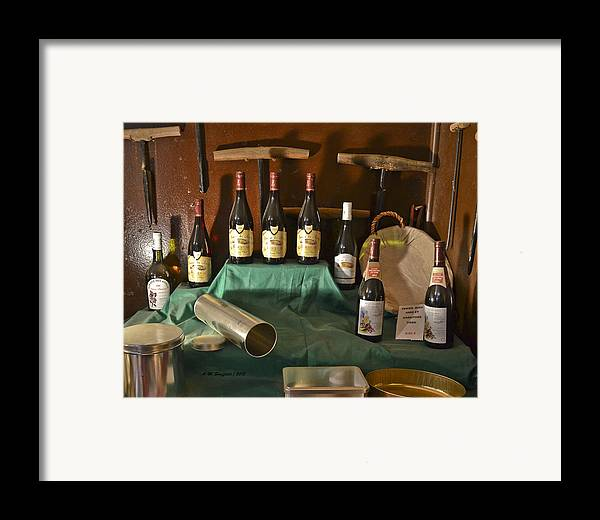 Wine Framed Print featuring the photograph Inside The Wine Cellar by Allen Sheffield