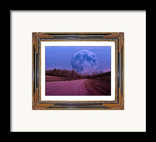 Moonshine Framed Print featuring the digital art Inspiration In The Night by Betsy Knapp