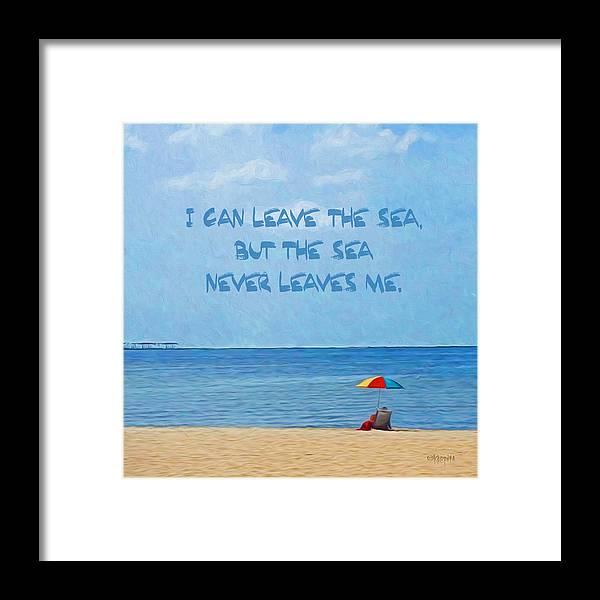 cac44dea48 Inspirational Sea Quote Beach Seashore Coastal Framed Print