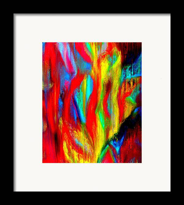 Abstract Framed Print featuring the painting Inspire Experiment by Stan Hamilton