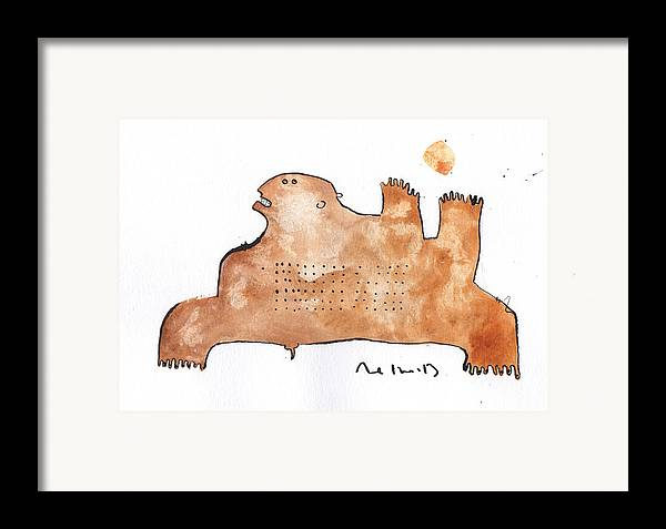 Watercolor Framed Print featuring the painting Instar No.2 by Mark M Mellon