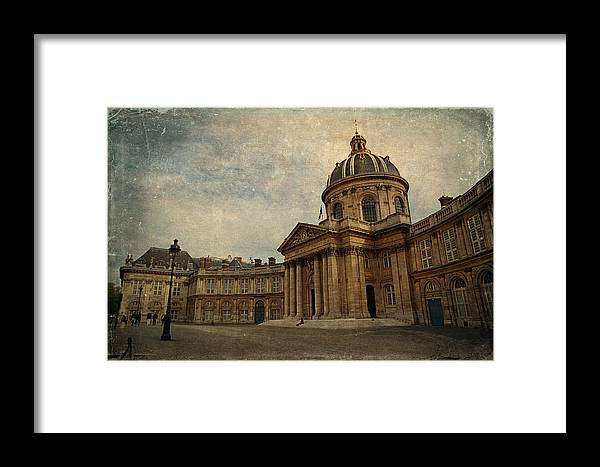 Paris Framed Print featuring the photograph Institut De France by Maria Angelica Maira