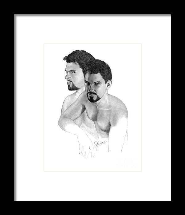 Pencil Drawing Print Framed Print featuring the drawing Intense Stare by Joe Olivares