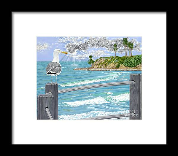 Sea Gull Framed Print featuring the painting Intensity by John Wilson