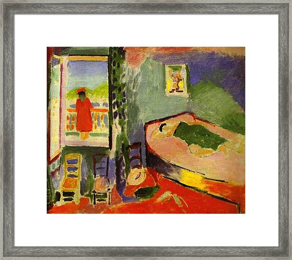 Interior At Collioure Framed Print By Henri Matisse