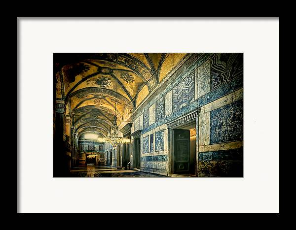 Hagia Sophia Framed Print featuring the photograph Interior Narthex by Joan Carroll