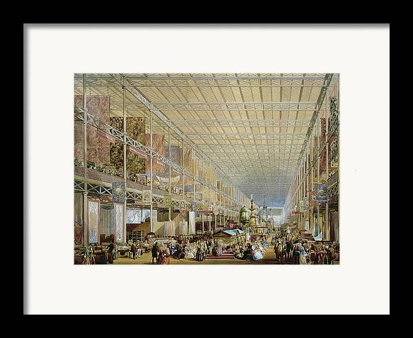 Architecture Framed Print featuring the drawing Interior Of The Great Exhibition Of All by Edmund Walker