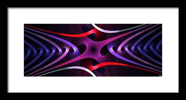 Inter Framed Print featuring the digital art Interleaving by Brian Kenney
