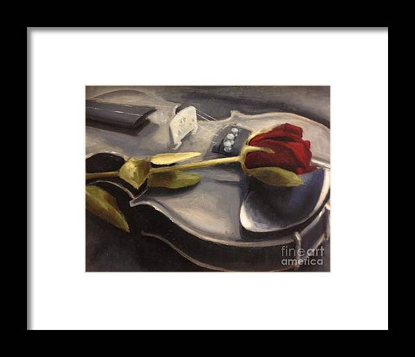 Violin Framed Print featuring the painting Interlude by Alison Schmidt Carson