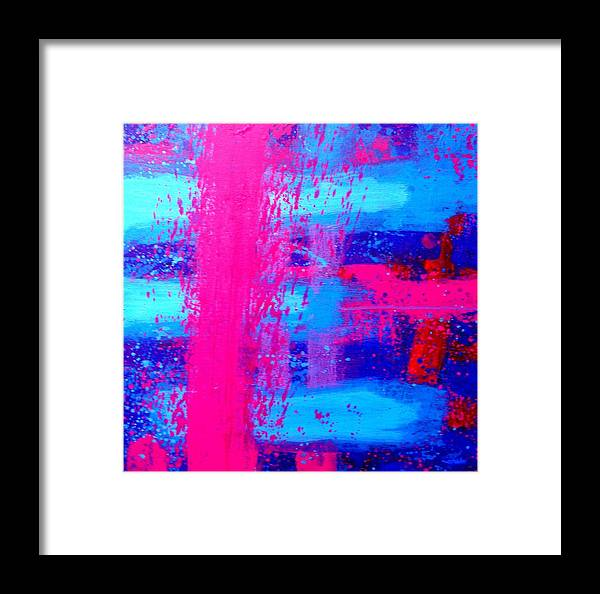 Abstract Framed Print featuring the painting Interlude by John Nolan