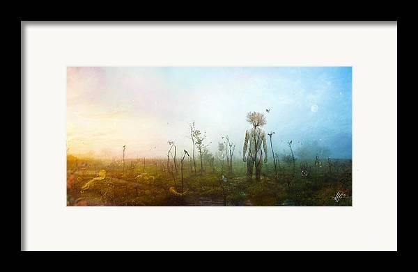 Surreal Landscape Framed Print featuring the digital art Internal Landscapes by Mario Sanchez Nevado