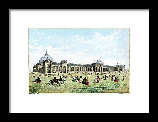 Event Framed Print featuring the digital art International Exhibition Of 1862 by Duncan1890