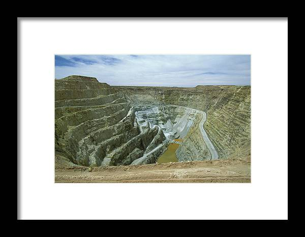 Altiplano Framed Print featuring the photograph Inti Raymi Gold Mine Quarry In Oruro by Anders Ryman