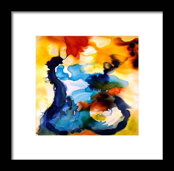 Nude Framed Print featuring the painting Intimate Portrait II by Shelli Finch