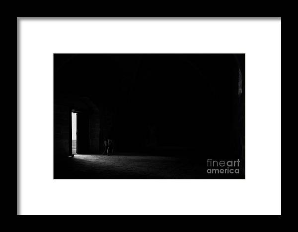 Dark Framed Print featuring the photograph Into The Dark by Shawn Hempel