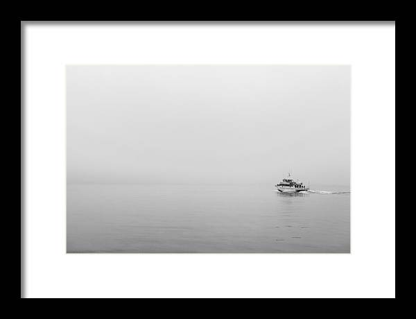 Art Framed Print featuring the photograph Into The Fog by Jon Glaser