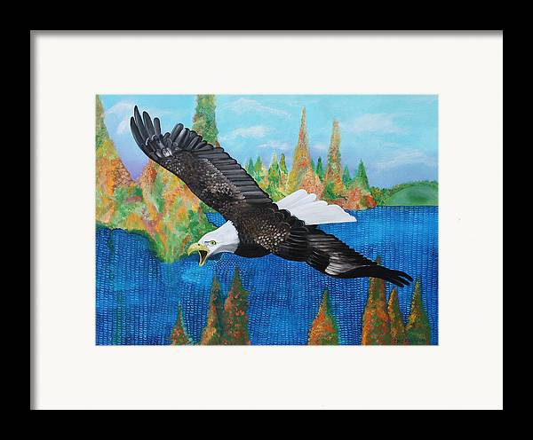Eagle Framed Print featuring the painting Into The Future by John Keaton