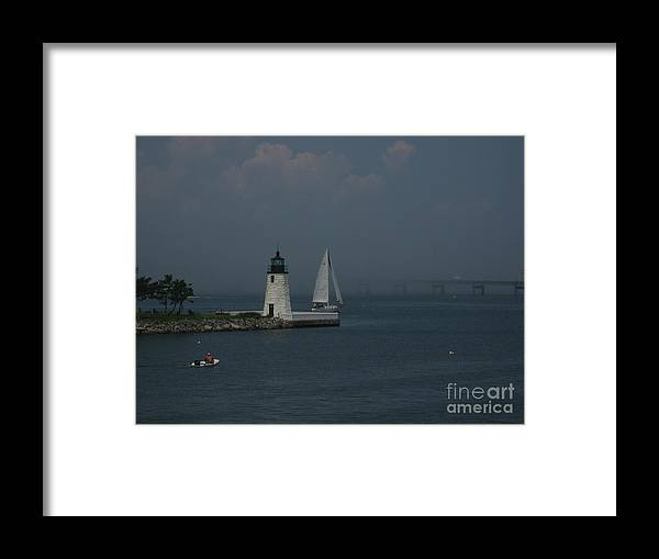 Light Framed Print featuring the photograph Into The Mist by Ray Konopaske