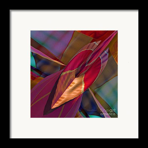 Abstract Framed Print featuring the digital art Into The Soul by Deborah Benoit