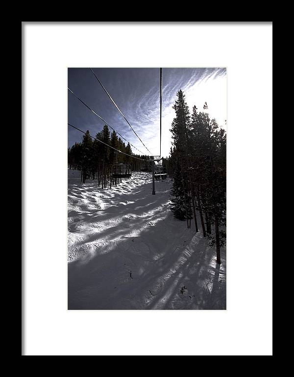 Vail Snow Ski Board Powder Nature Mountains Framed Print featuring the photograph Into The Sun by Nic Vasquez