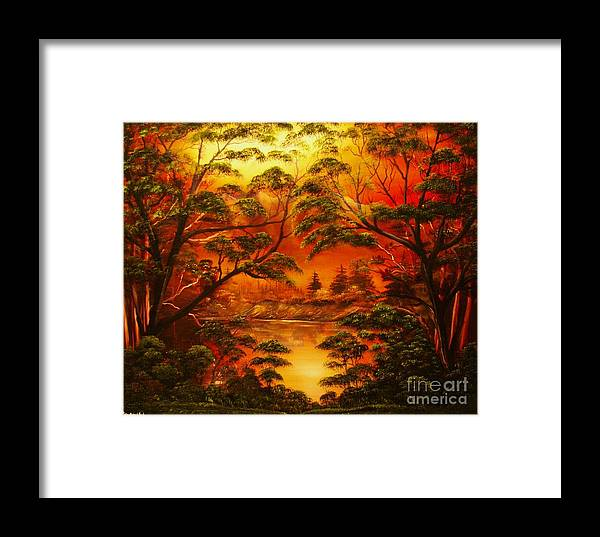 Twilight Framed Print featuring the painting Into The Twilight-original Sold-buy Giclee Print Nr 29 Of Limited Edition Of 40 Prints by Eddie Michael Beck