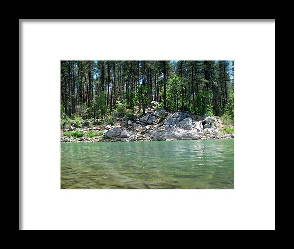 Goldwater Lake Framed Print featuring the photograph Into The Water by Aaron Burrows