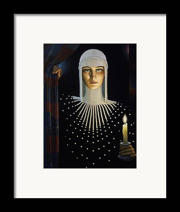 Intrique Framed Print featuring the painting Intrique by Jane Whiting Chrzanoska
