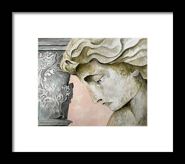 Watercolor Framed Print featuring the painting Introspective by Brenda Owen