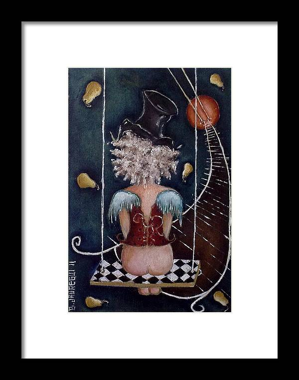Moon Framed Print featuring the painting Inusual by Belen Jauregui