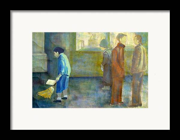 Woman Framed Print featuring the mixed media Invisible by Elizabeth Bogard