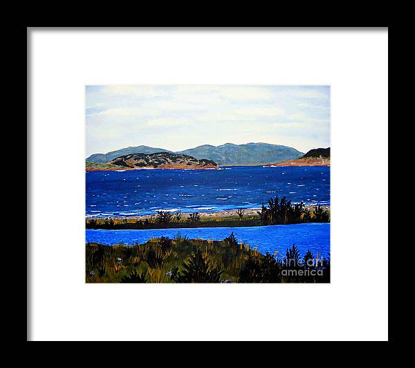 Islands Framed Print featuring the painting Iona formerly Rams Islands by Barbara Griffin
