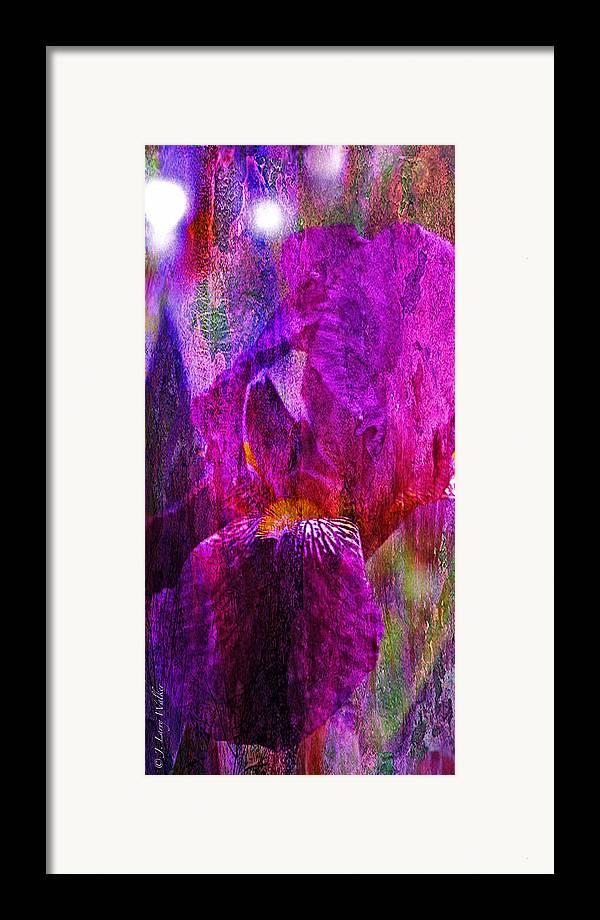 J Larry Walker Framed Print featuring the photograph Iris Abstract by J Larry Walker