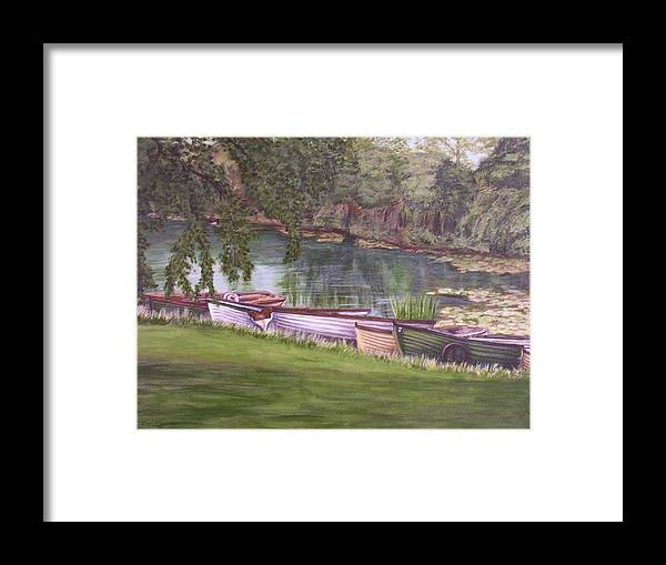 Acrylic Framed Print featuring the painting Irish Fishing Boats by Cathy McGregor