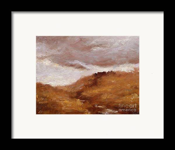 Landscape Paintings Framed Print featuring the painting Irish Landscape I by John Silver