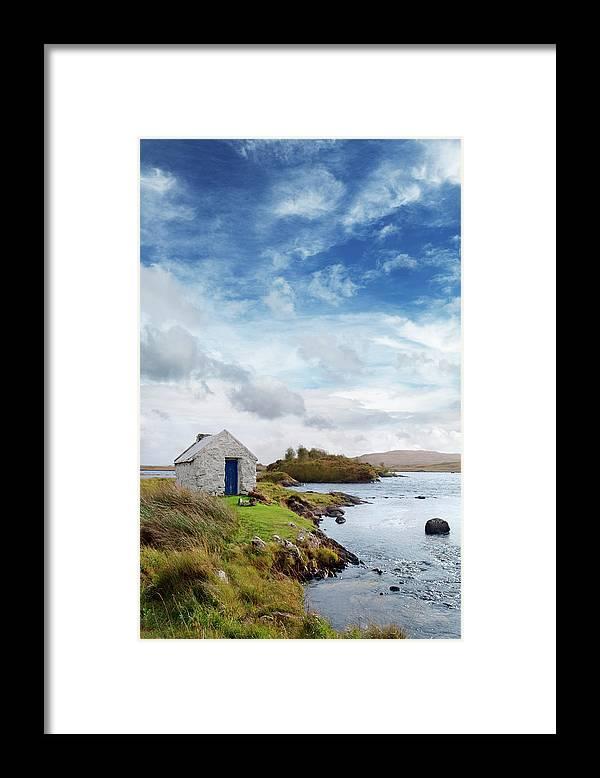 Water's Edge Framed Print featuring the photograph Irish Landscape In Connemara by Narvikk