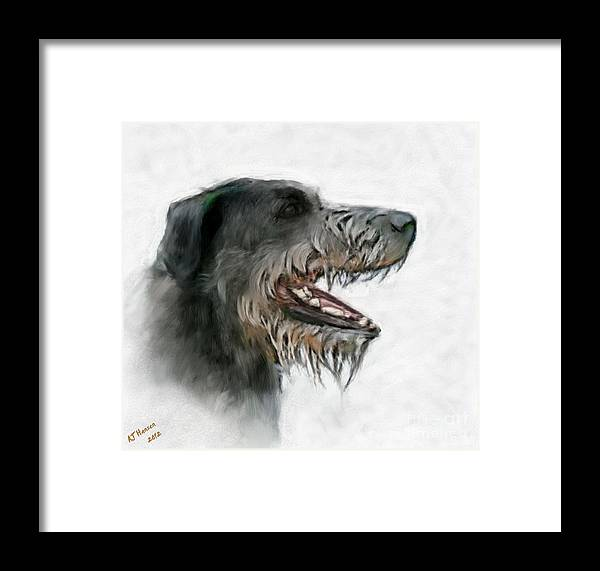Framed Print featuring the photograph Irish Wolfhound by Arne Hansen