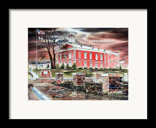 Iron County Courthouse No W102 Framed Print featuring the painting Iron County Courthouse No W102 by Kip DeVore