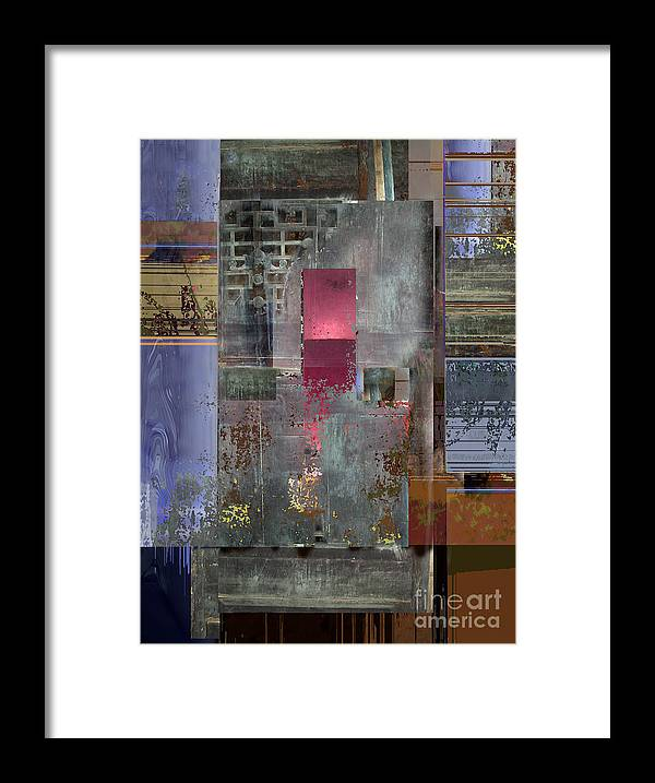 Ursula Freer Framed Print featuring the digital art Iron Gate by Ursula Freer