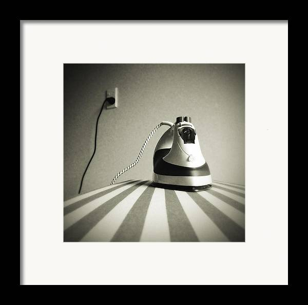 Retro Framed Print featuring the photograph Iron by Les Cunliffe